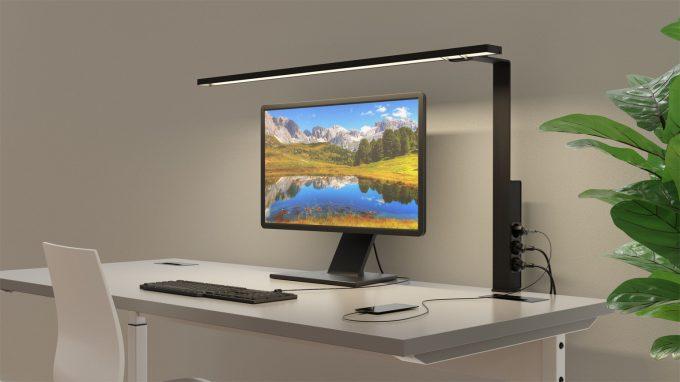 Aicci DL1 1120CS and 120DS desk lamp, black